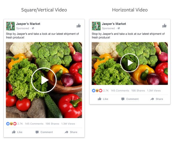vidéo pour Facebook