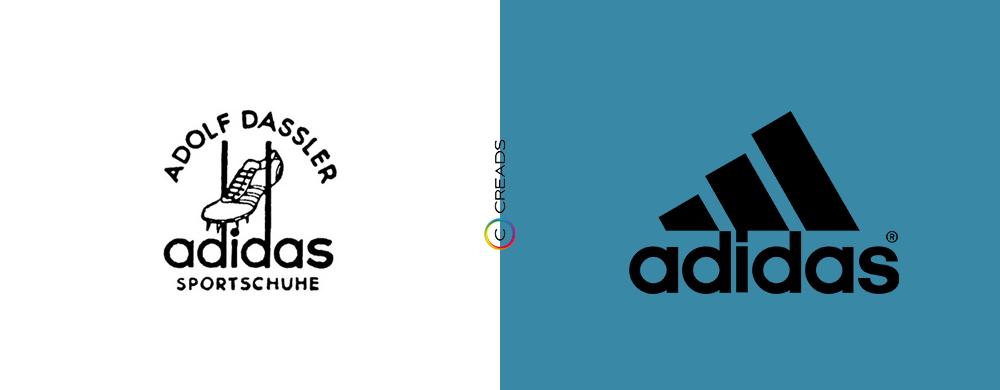 évolution logo adidas
