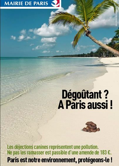 Une campagne d'affichage pour la propreté à Paris