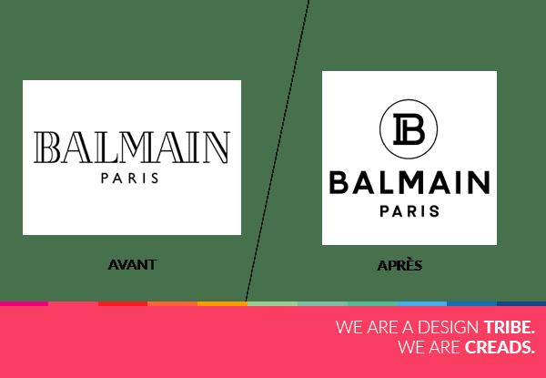 nouveau logo balmain agence creads