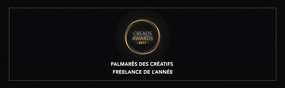 Creads Awards 2017 : Qui sont les créatifs freelances de l'année ?
