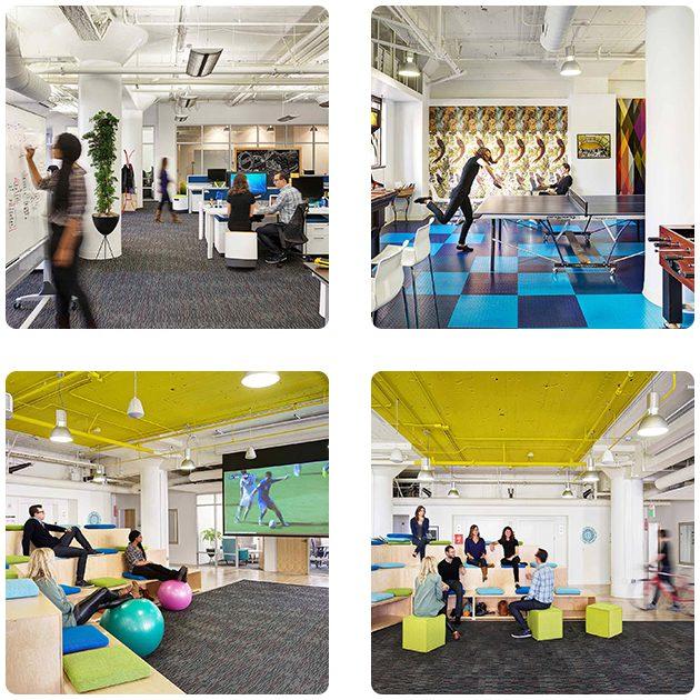 Top 10 des bureaux créatifs de startups les plus agréables !