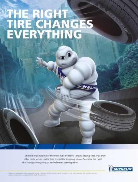 Nouvelle publicité Michelin