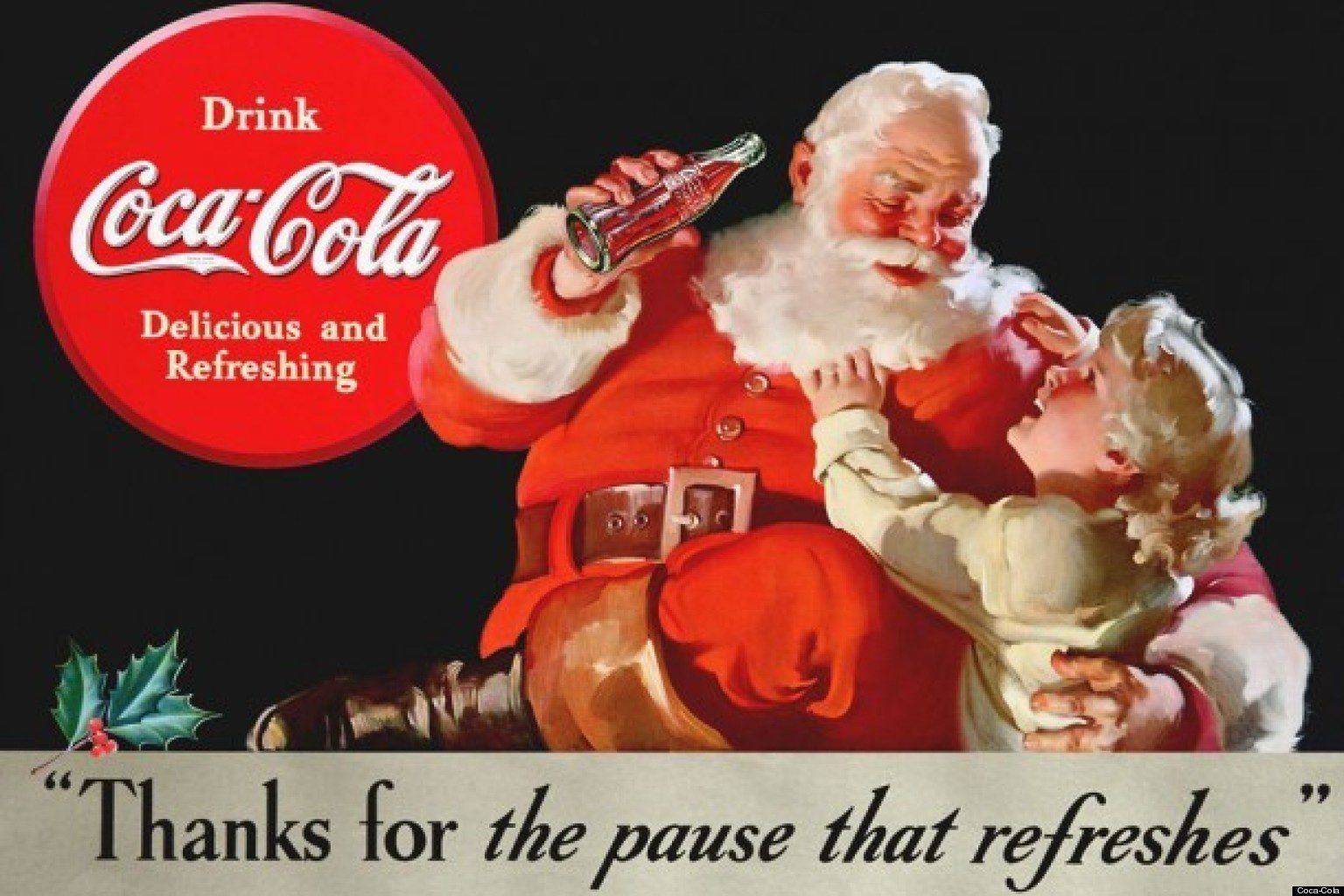 Coca Cola dessine le Père Noel pour sa publicité en 1931
