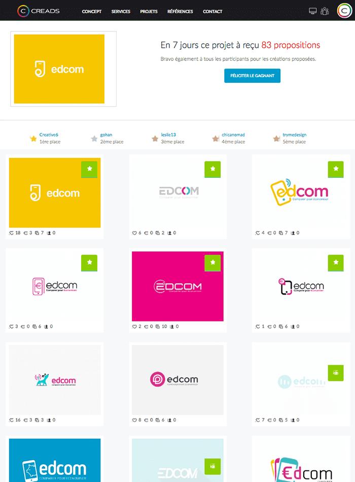 Edcom choisit Creads pour créer sa nouvelle identité visuelle !