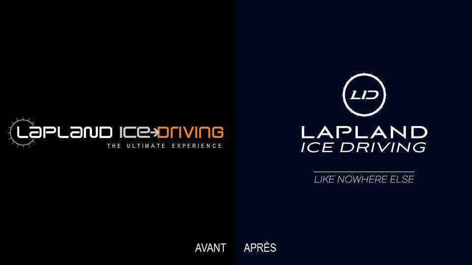 laponie ice driving - identité visuelle - creads