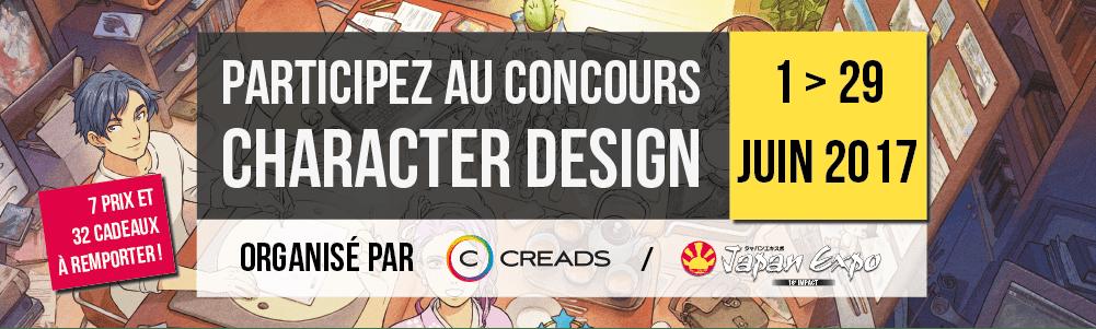 Participez au concours officiel de Chara Design de Japan Expo avec Creads !