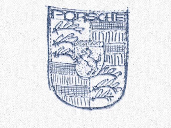 Ebauche du logo Porsche