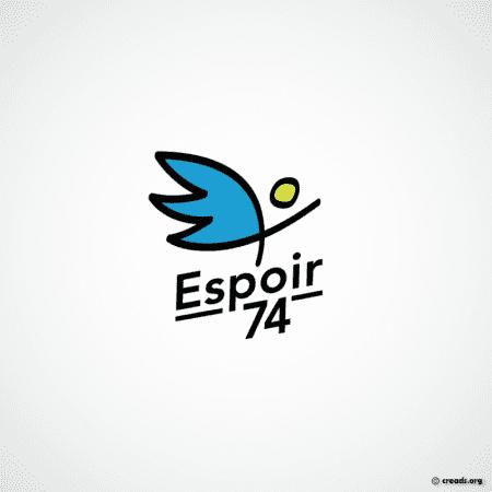 logo Espoir 74 : accompagnement social et medico-social