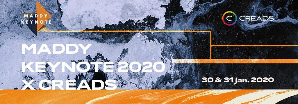 CREADS PARTENAIRE DE LA MADDY KEYNOTE 2020, SOMMET TRICOLORE DE L'INNOVATION