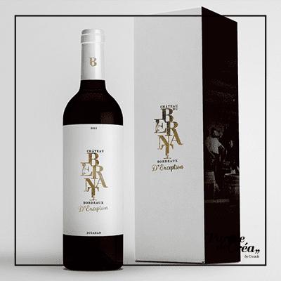 Etiquette vin Bordeaux Premium by Kura