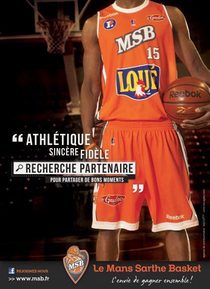 Annonceur Le Mans Sarthe Basket - ©Grand Prix de l'Affichage Indoor