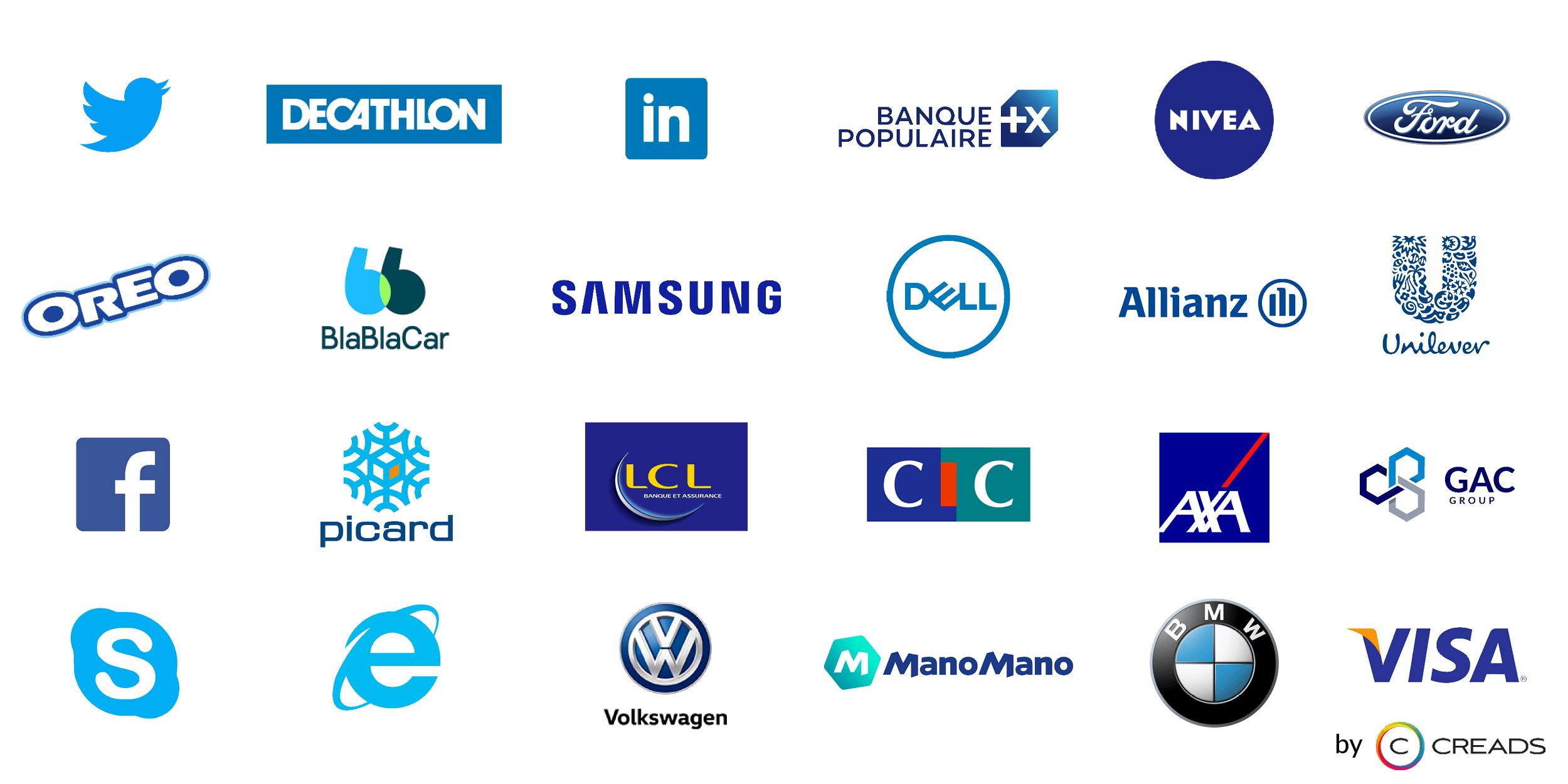 logos bleu agence creads
