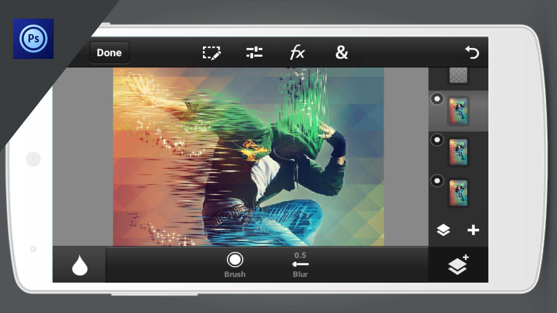 Photoshop est désormais disponible sur mobile !