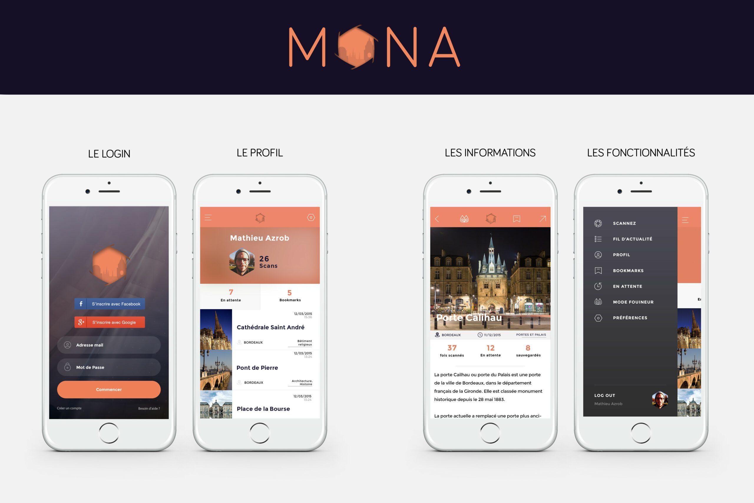 Mona - application mobile - concours - creads