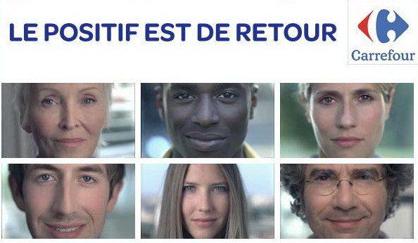 Nouveau slogan Carrefour : Le positif est de retour