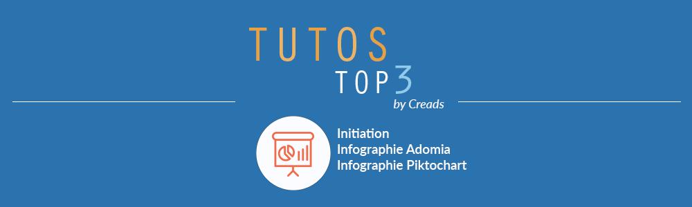 3 tutos spécial infographie : Initiation, Adomia, Piktochart