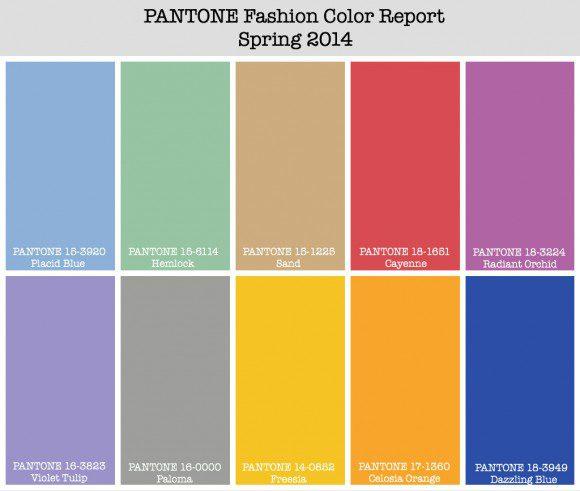 Le nuancier Pantone de l'été 2014 qavec la couleur Radiant Orchid