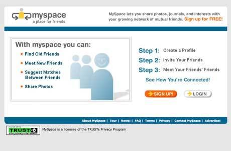 premiere version de myspace
