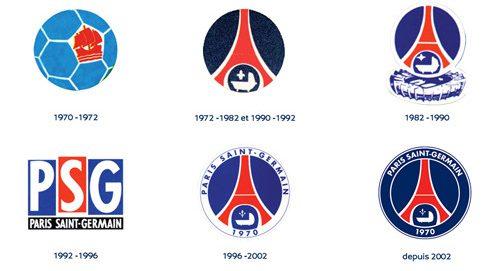 evolution logo du psg