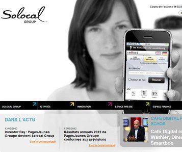 Le groupe Pages Jaunes change de nom et devient Solocal