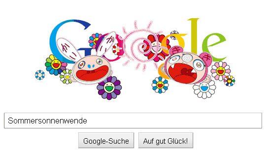 Google Doodle pour Takashi Murakami